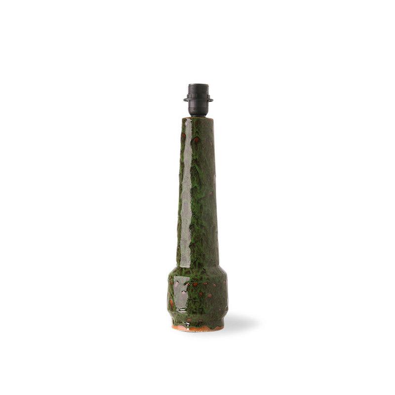 HKliving-collectie Retro aardewerk lampvoet groen