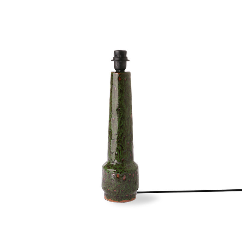 HKliving-collectie retro stoneware lamp base green