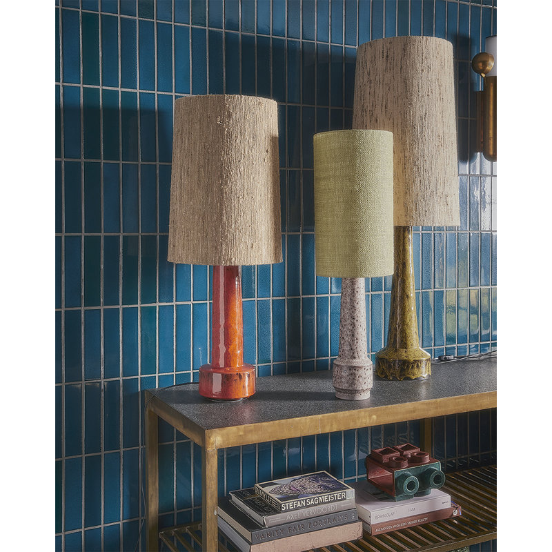 HKliving-collectie retro stoneware lamp base red