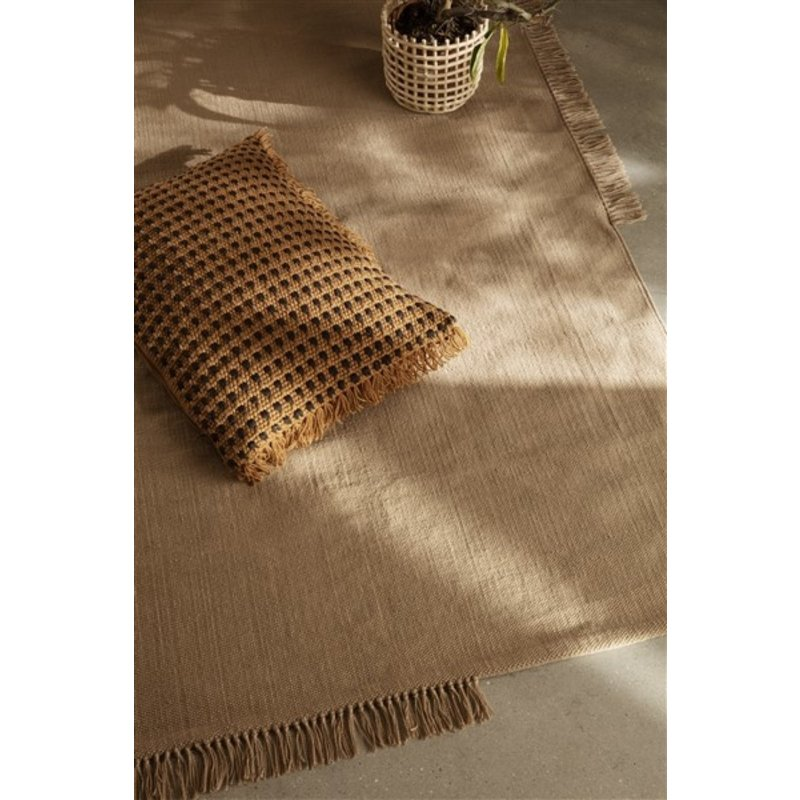 ferm LIVING-collectie Hem Rug - Large - Sand