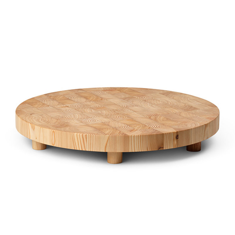ferm LIVING-collectie Chess Cutting Board - Round Large