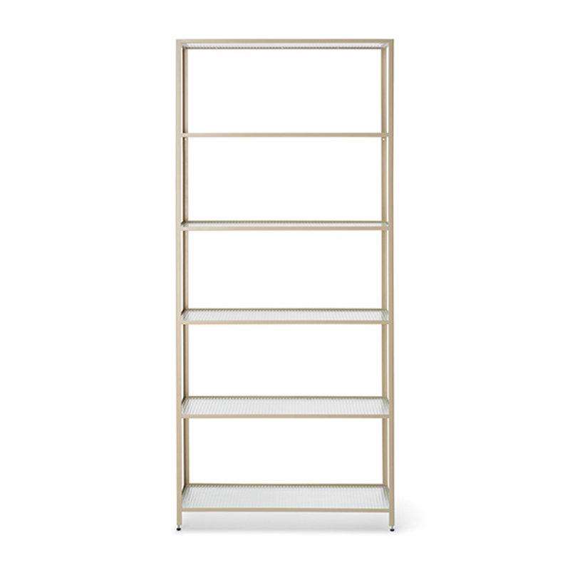 ferm LIVING-collectie Haze Bookcase - Reeded glass - Cashmere