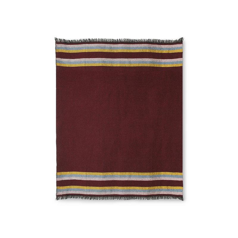 HKliving-collectie DORIS for HKLIVING: fluffy plaid burgundy (130x150) - Copy