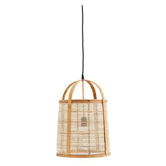 Madam Stoltz Hanglamp bamboe met linnen