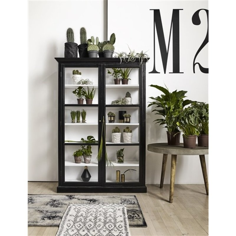 Nordal-collectie CLASSIC cabinet, double, black