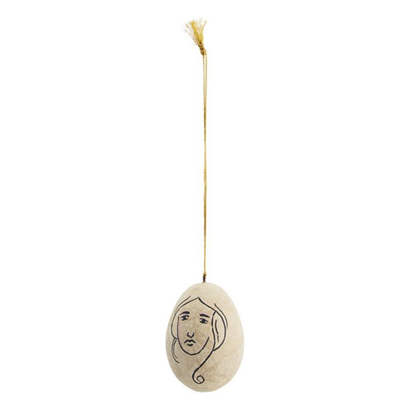 Madam Stoltz-collectie Handpainted papier mache egg