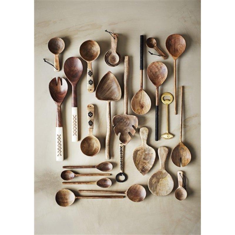 Madam Stoltz-collectie Wooden serving spoon w/ cane