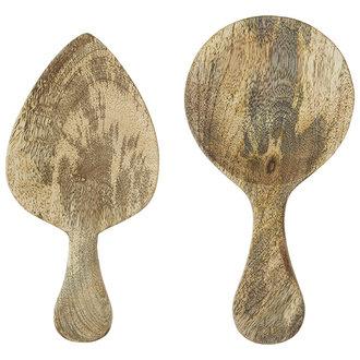Madam Stoltz Wooden serving spoons