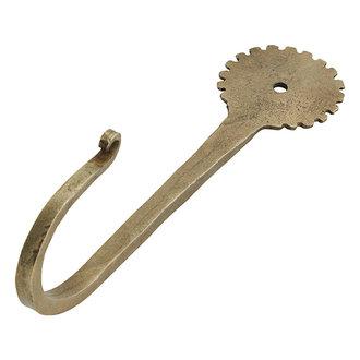 Madam Stoltz Wandhaak hand gesmeed brass 15 cm