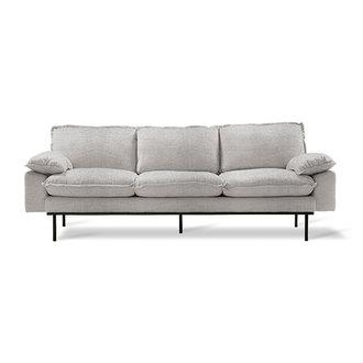 HKliving Retro sofa: 3-seats, sneak, light grey