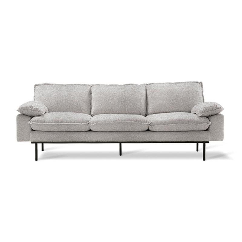 HKliving-collectie Retro sofa: 3-seats, sneak, light grey