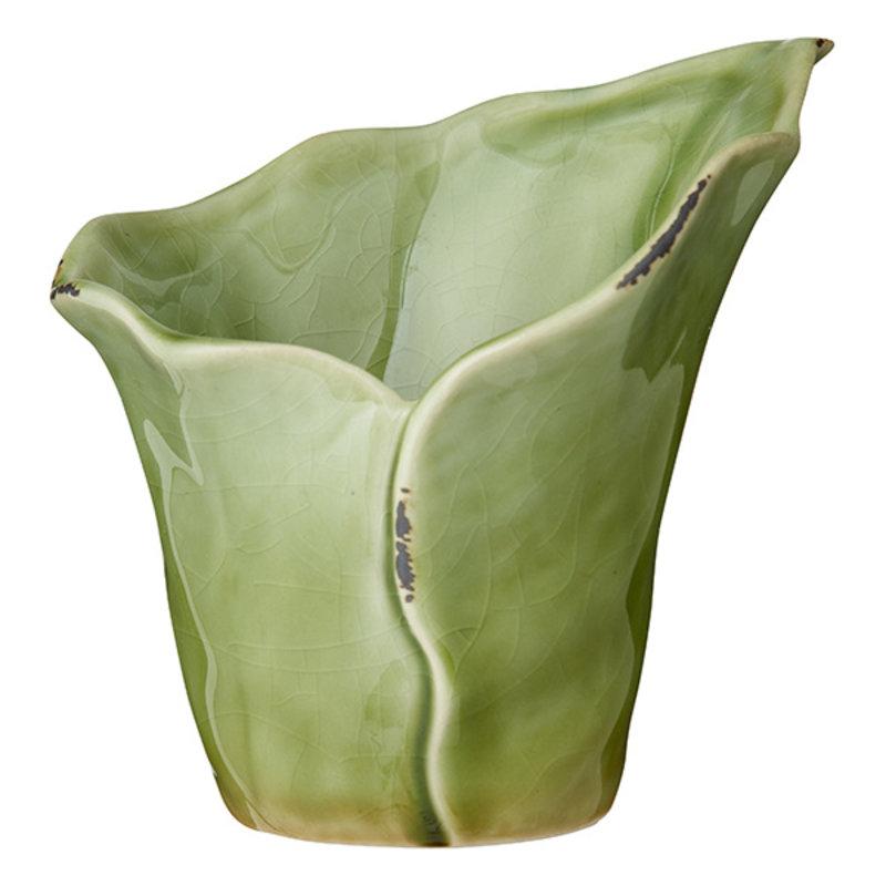 Bungalow-collectie Bloempot blad groen 11 cm