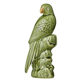 Bungalow Aardewerk papegaai groen 27 cm