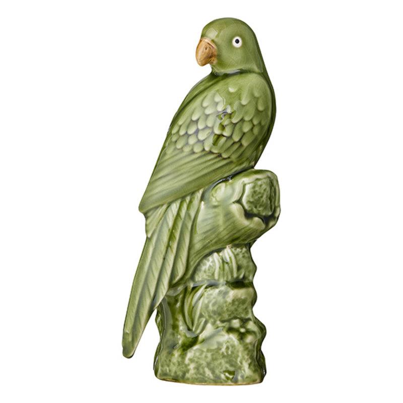 Bungalow-collectie Aardewerk papegaai groen 27 cm