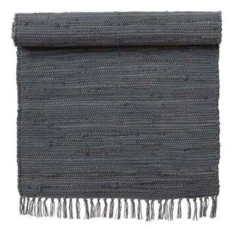 Bungalow Vloerkleed Chindi donkergrijs 60 x 90 cm