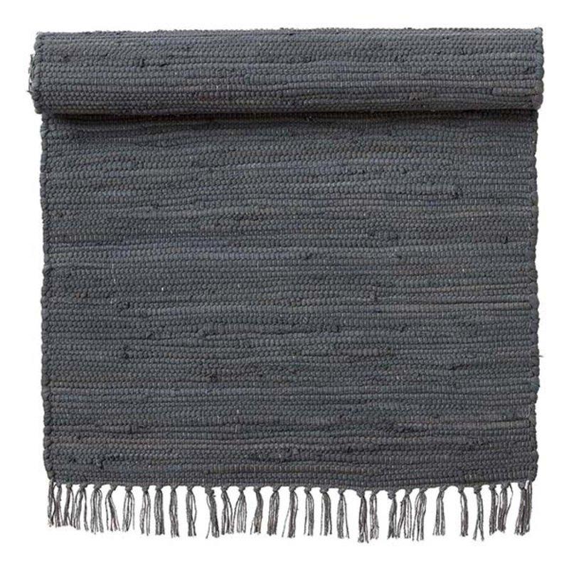 Bungalow-collectie Vloerkleed Chindi donkergrijs 60 x 90 cm