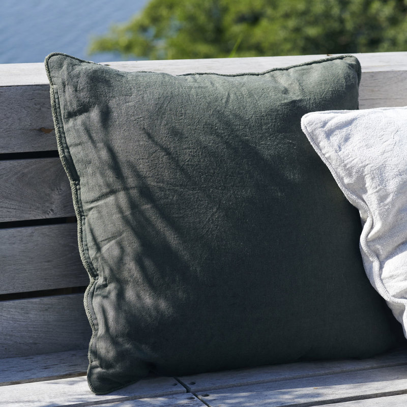 House Doctor-collectie Cushion cover Sai Dark Green Finish/Colour may vary
