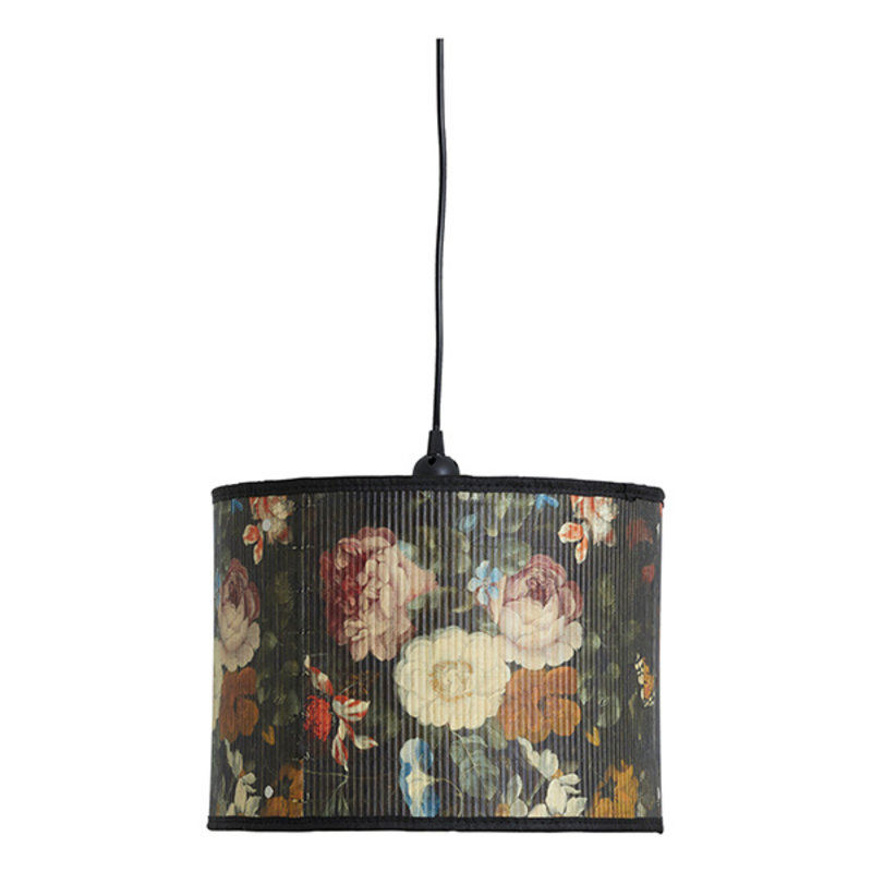 Nordal-collectie BAUBO hanging lamp, S, flower print