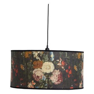 Nordal BAUBO hanging lamp, L, flower print
