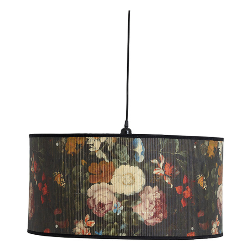 Nordal-collectie BAUBO hanging lamp, L, flower print