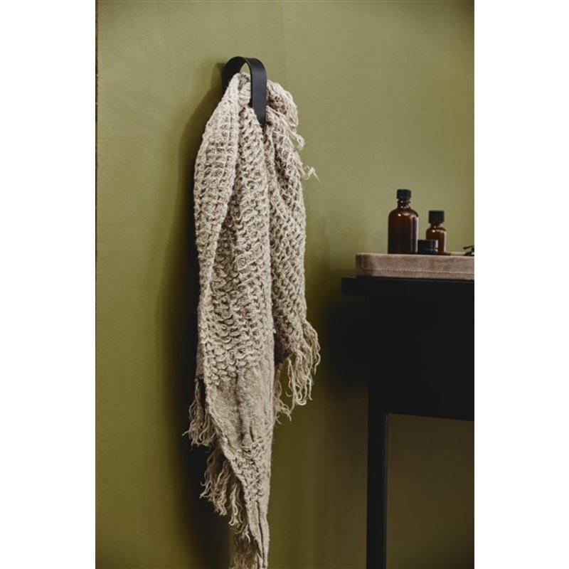 Nordal-collectie SOTRA towel hook, black metal