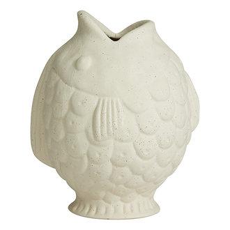 Nordal DUCIE fish vase, S, white