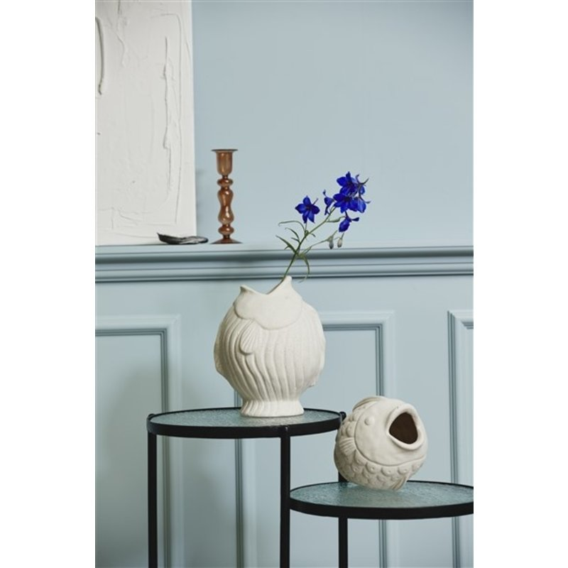 Nordal-collectie DUCIE fish vase, S, white