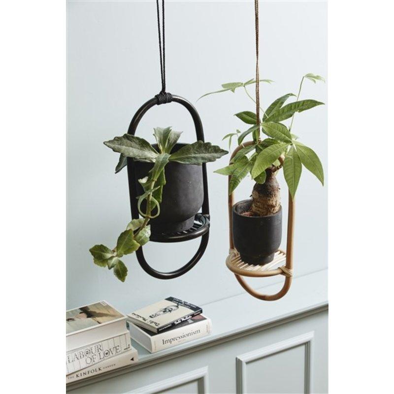 Nordal-collectie ELBA hanger for flower pots, black