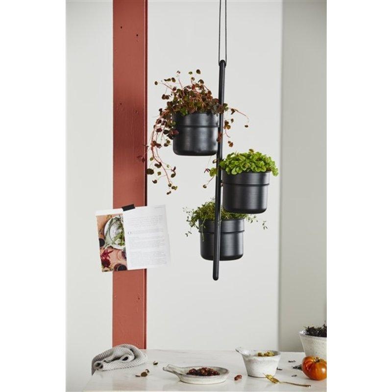 Nordal-collectie Plantenhanger VULCANO zwart