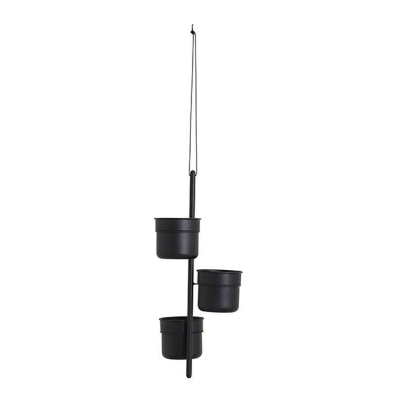 Nordal-collectie VULCANO hanging pot, black