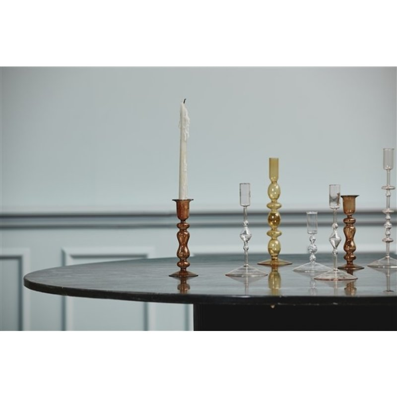 Nordal-collectie CHIROS candleholder, S, clear