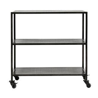 Nordal KARNA trolley, 2 shelves, black iron