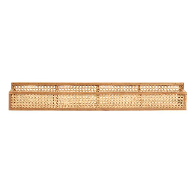 Nordal-collectie Rattan wandplank met webbing 91 cm