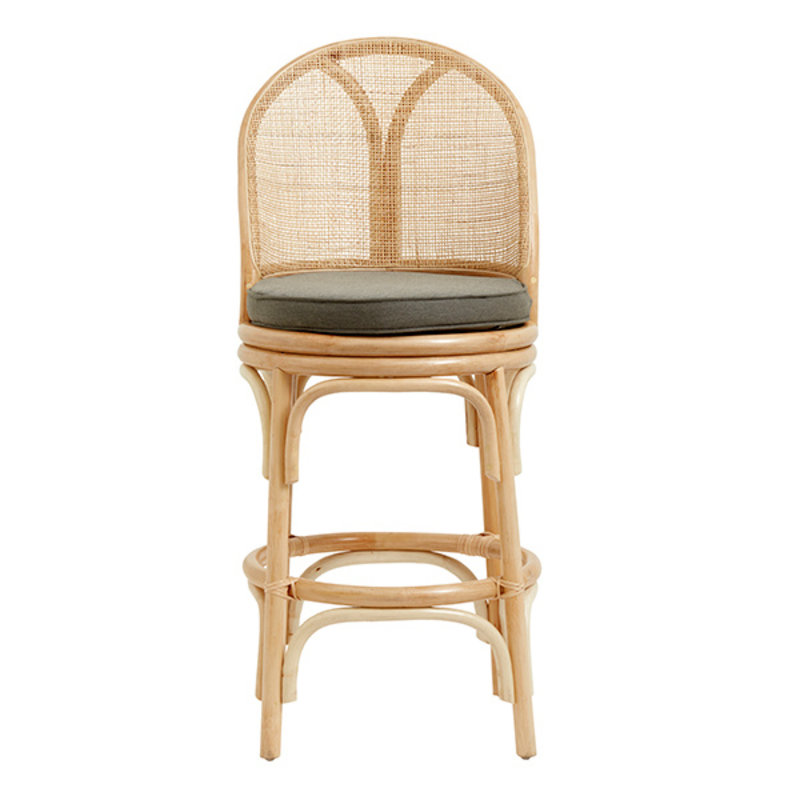 Nordal-collectie BALI bar chair, rattan/weaving, natural