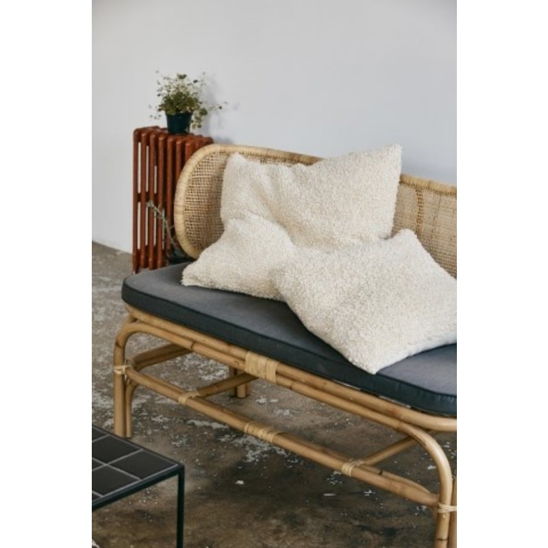 Nordal-collectie BALI bench w/rounded back, natural