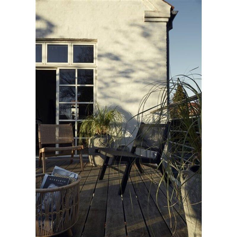 Nordal-collectie ZOE wicker planters, s/3