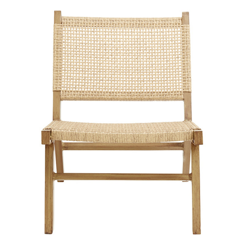 Nordal-collectie VASAI lounge chair, natural col