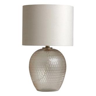 Nordal CHANDRA lamp base, cut glass, pale pink