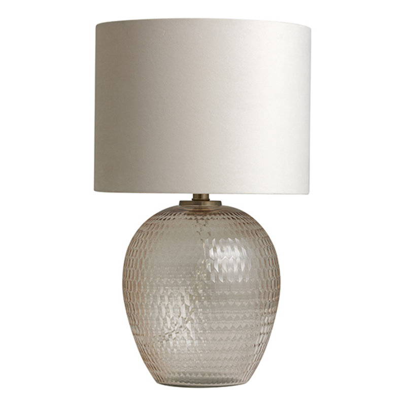 Nordal-collectie CHANDRA lamp base, cut glass, pale pink