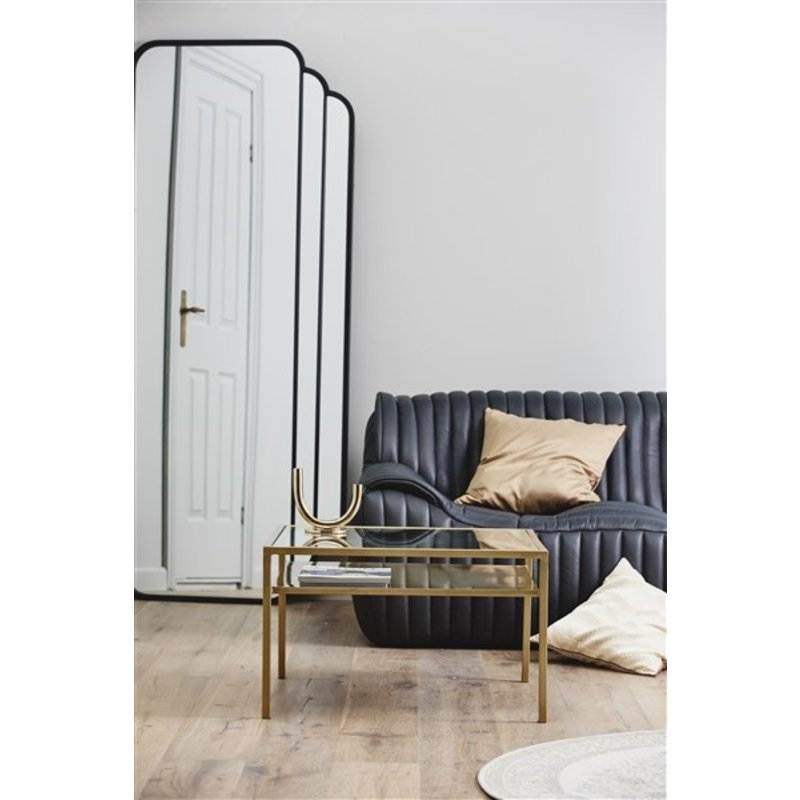 Nordal-collectie SKYLARK Iron wall mirror, black