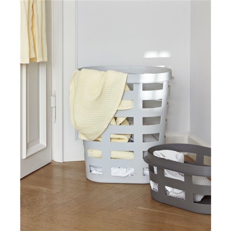 HAY-collectie Kunststof wasmand lichtgrijs - L
