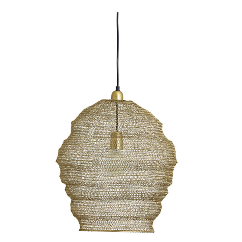 Nordal-collectie JUNO wire lamp, hanging, golden finish