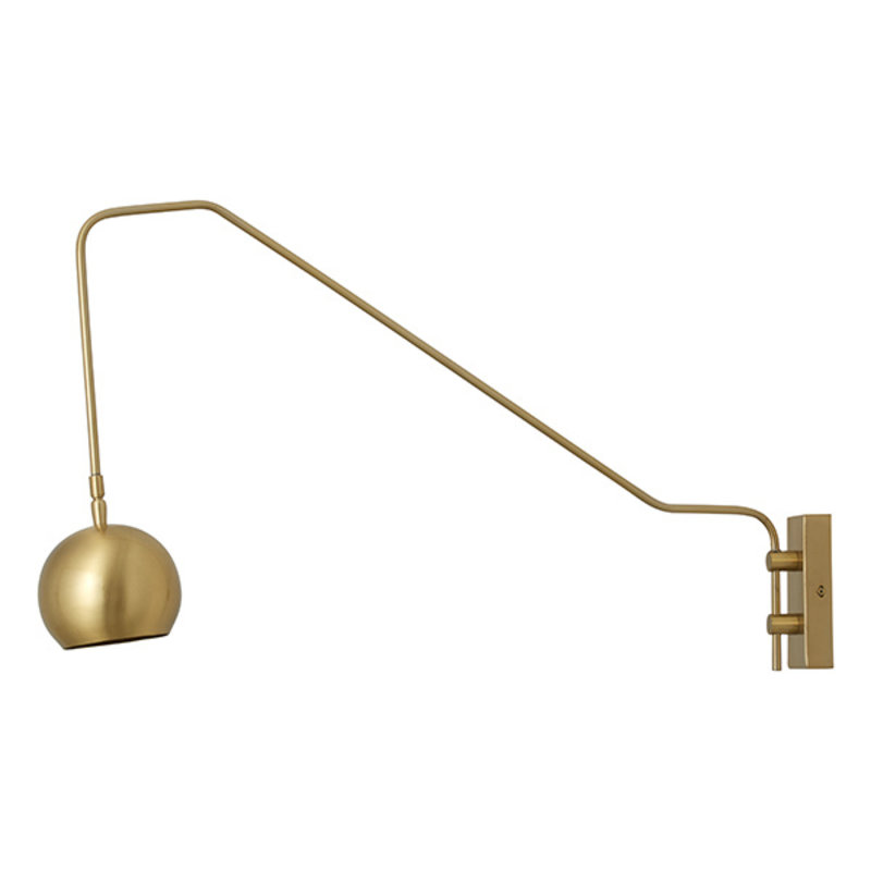 Nordal-collectie ATHENE golden wall lamp, globe