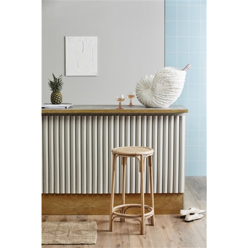 Nordal-collectie NEN bar chair, natural rattan