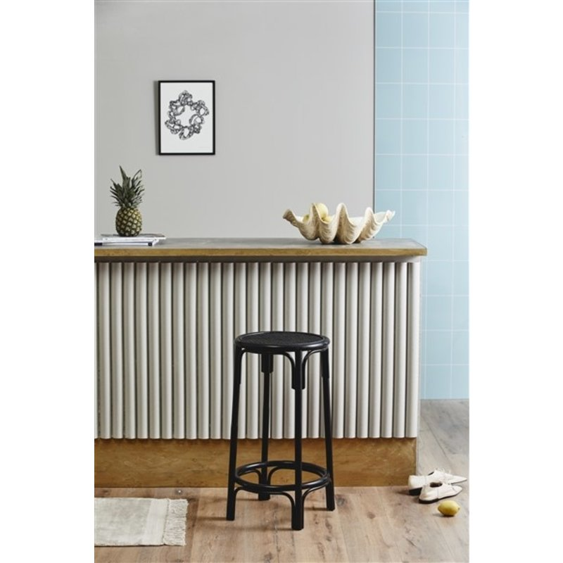 Nordal-collectie NEN bar chair, black rattan