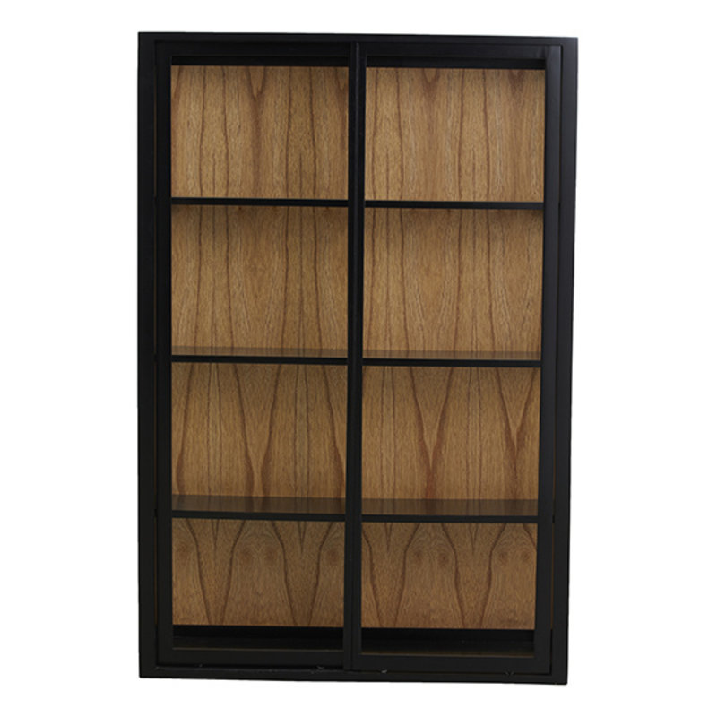 Nordal-collectie BEI wall cabinet, sliding doors, black