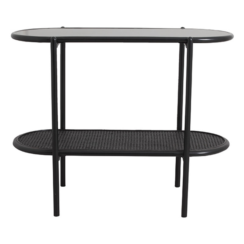 Nordal-collectie SURMA side table, 2 shelves, black