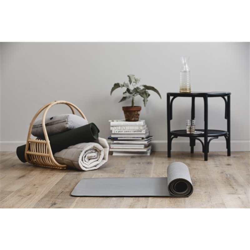 Nordal-collectie KASAI coffee table, black w/wickerwork