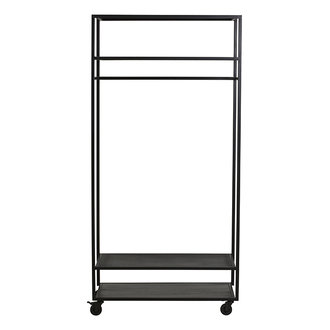 Nordal ALTA iron wardrobe rack, black