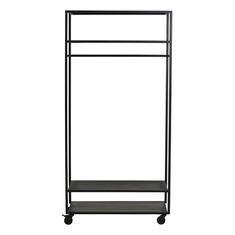 Nordal-collectie ALTA iron wardrobe rack, black